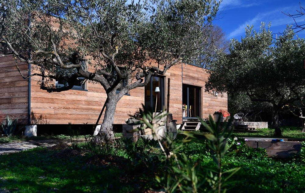 Maison ossature bois sur dalle bois Sommières
